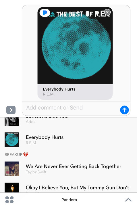 Share Songs and More Using Pandora's New iMessage App